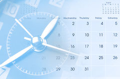 Clock and calendar royalty free stock photos
