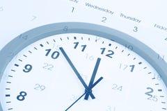 Clock and calendar Stock Photo