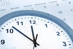 Clock and calendar Stock Photos