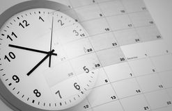 Clock and calendar Stock Photography