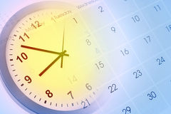 Clock and calendar Stock Image