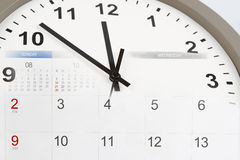 Clock and calendar Royalty Free Stock Image