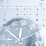 Clock and calendar Stock Photography
