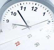 Clock and calendar Royalty Free Stock Image