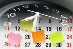 Clock and Calendar Page Stock Photo