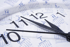 Clock and Calendar Pages Royalty Free Stock Images