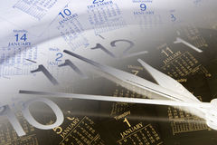 Clock and Calendar Pages Stock Photography