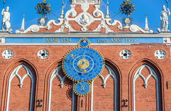 Clock calendar in Riga Stock Images