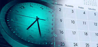 Clock and calendars Stock Photography
