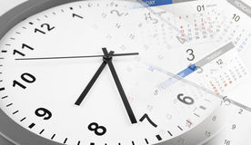 Clock and calendars Royalty Free Stock Images