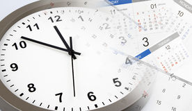Clock and calendars Royalty Free Stock Photography