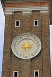 Clock on the campanile or belltower of the Chiesa dei Santi Apostoli di Cristo Church of the Holy Apostles of Christ in Venice Royalty Free Stock Image