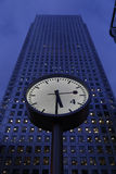 Clock at canary wharf Royalty Free Stock Photos