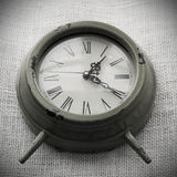 Clock with canvas background Stock Images