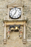 Clock at the Carfax tower in Oxford England Royalty Free Stock Photos