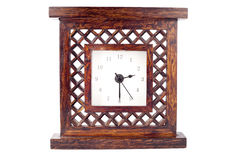 Clock in carved wood frame Stock Photography