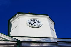The clock on the cathedral. At the Assumption Cathedral in Kanev hanging clock Royalty Free Stock Photography