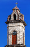 Clock on Cathedral of The Virgin Mary, Havana, Cuba Stock Photography