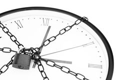 Clock chained Royalty Free Stock Photos