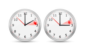 Clock Change One Hour Royalty Free Stock Photo