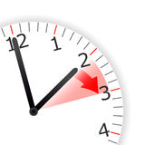Clock Change Skipping Hour Royalty Free Stock Image