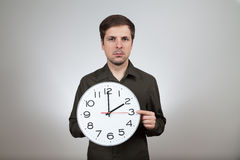 Clock change to summertime Stock Images