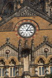 Clock in Chatrapati Shivaji Terminus building Stock Image