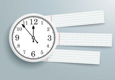 Clock checked Paper Striped Lines Stock Images