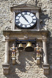 Clock and Chime of Carfax Tower in Oxford Royalty Free Stock Photos