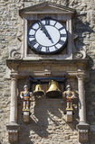 Clock and Chime of Carfax Tower in Oxford Royalty Free Stock Images