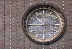 The clock on the church stock photos