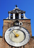 Clock on the church of San Giacomo di Rialto in Venice, Italy Royalty Free Stock Photography