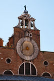 The clock on the Church in Venice Royalty Free Stock Photo