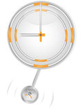 Clock and cigarettes Royalty Free Stock Photo