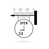 Clock circle vector rotate illustration Stock Photos