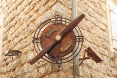 Clock at the citadel of Budva Stock Photos