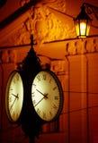 Clock at the city Bratislava Royalty Free Stock Image