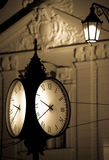 Clock at the city Bratislava Stock Images
