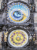 Clock of cityhall Prague Stock Image