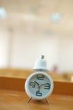 Clock  in class room Stock Photos