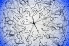 Clock in clock Stock Photos