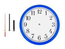 Clock and clock-hands Stock Image