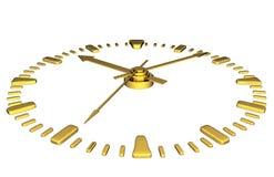 Clock, clockface. 3d illustration isolated Royalty Free Stock Photos