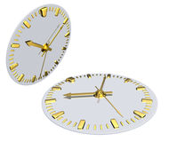 Clock, clockface. 3d illustration isolated Stock Images