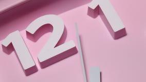 Clock close up footage. Close up of a modern analogclockface stock footage