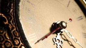 Clock close up footage. Close up of an Oldclockface stock video footage