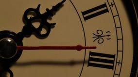 Clock close up footage. Close up of an Oldclockface stock video