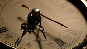 Clock close up footage stock footage