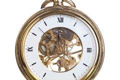 Clock close up isolated on white background Royalty Free Stock Image