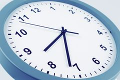 Clock. Closeup of hands on clock face Royalty Free Stock Photos
